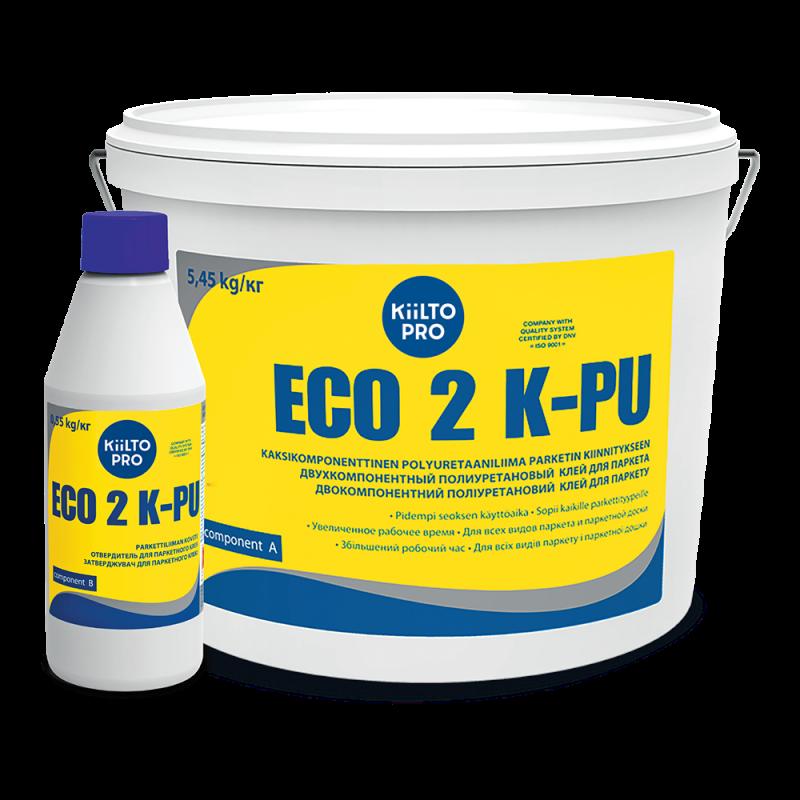 Kiilto Eco 2 K-PU 0.55кг. Полиуретановый 2-х компонентный клей для паркета