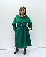 Дизайнерское  зеленое платье, фото 1