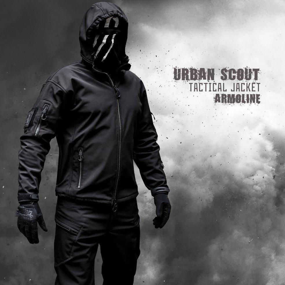 "Куртка SoftShell ""URBAN SCOUT"" BLACK"
