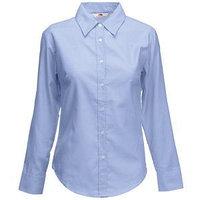 Рубашка женская LONG SLEEVE OXFORD SHIRT LADY-FIT 135 Голубой M