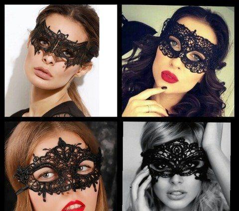 Ажурная кружевная маска