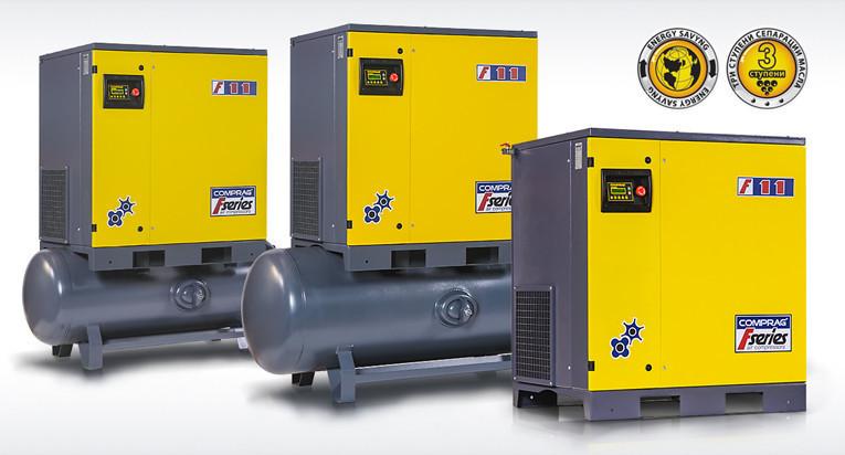 Компрессоры серии F производительностью до 2,3 м3/мин cо встроенным осушителем мощностью 11,0кВт