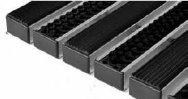 Придверные решётки Step резина+щетка+скребок 390×590