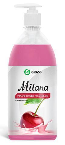 Жидкое крем-мыло Milana спелая черешня с дозатором , фото 2