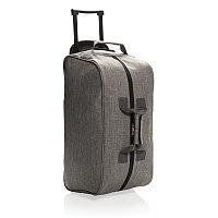 Дорожная сумка на колесах Basic, серая, серый, Длина 55 см., ширина 26 см., высота 28 см., P790.202