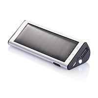 Зарядное устройство на солнечной батарее, 2200 mAh серебряный