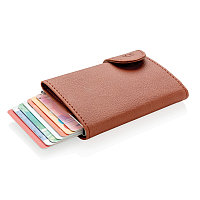 Кошелек с держателем для карт C-Secure RFID, коричневый коричневый Длина 9,5 см., ширина 6,8 см., высота 1,6 см. P850.519