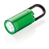 LED-фонарик Pull it, зеленый, , высота 8 см., диаметр 2,5 см., P513.317