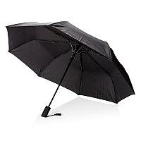 """Складной зонт-полуавтомат Deluxe 21"""", черный черный"""