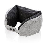 Подушка для путешествий Deluxe  с наполнителем Microbead, серый, серый; черный, Длина 59 см., ширина 13 см., высота 6 см., P820.162