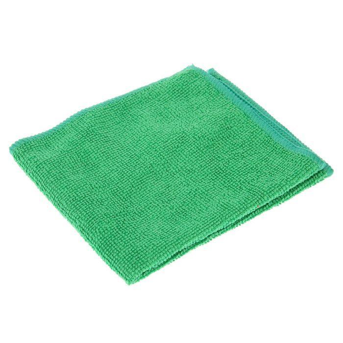 Салфетка микрофибра 220 г/м 30*30  (300шт) короб  зеленая