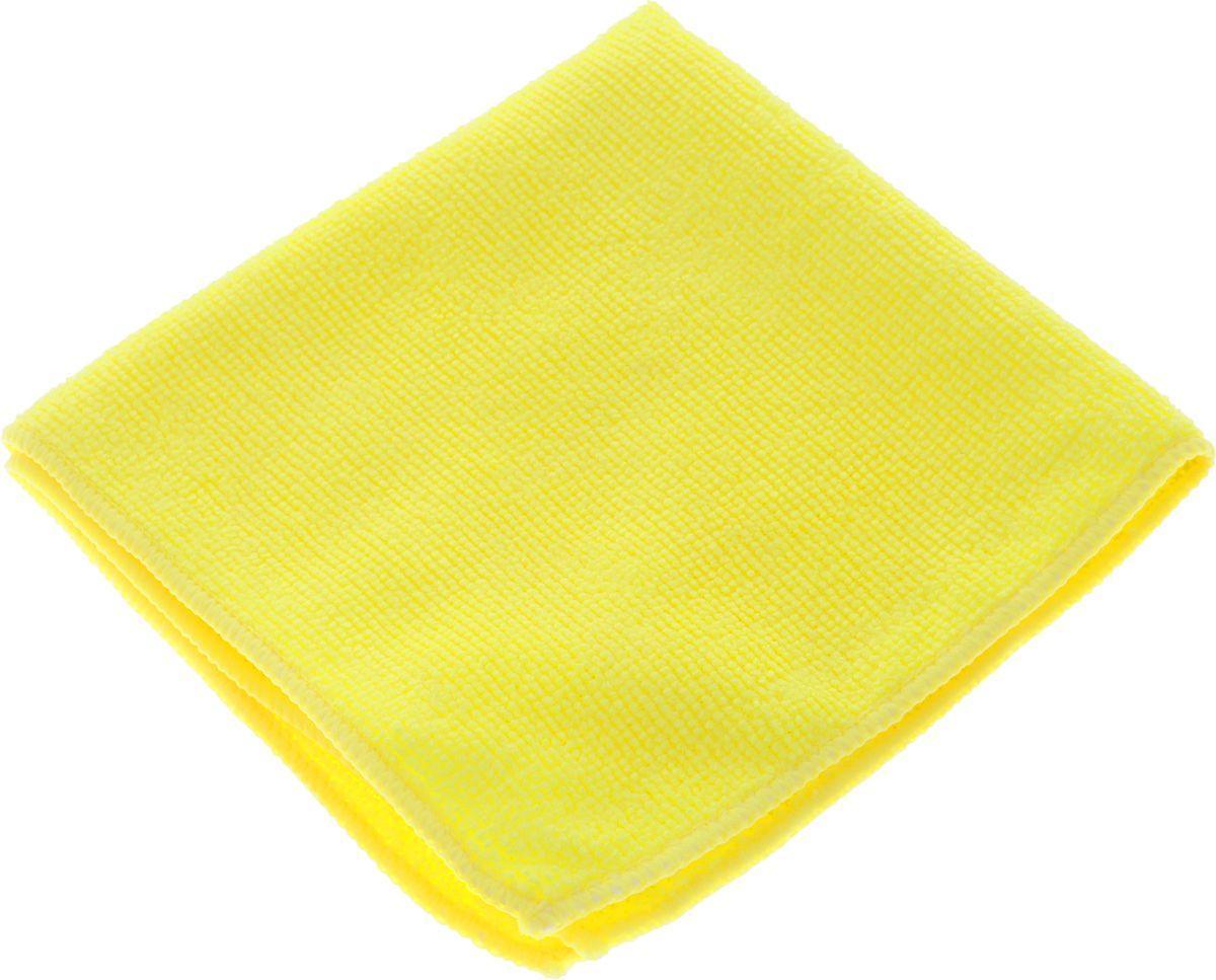 Салфетка микрофибра 220 г/м 30*30  (300шт) короб  желтая