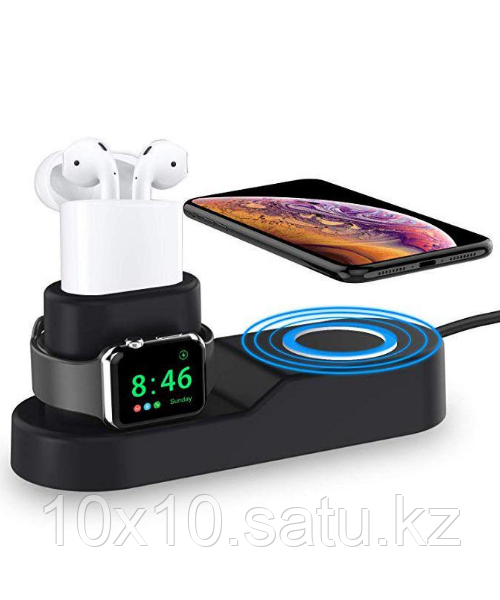 Док-станция STR 4 in 1 Wireless Charging Station for iPhone / Apple Watch / AirPods