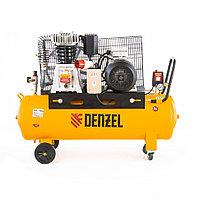 Компрессор DR4000/100 масляный ременный 10 бар, произв. 690 л/м, мощность 4 кВт// Denzel