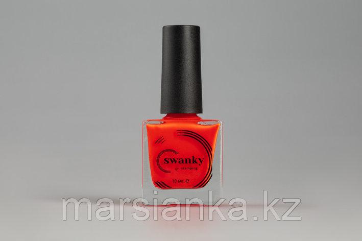 Лак для стемпинга Swanky Stamping №021, неоново-коралловый, 10 мл., фото 2