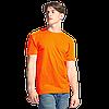 Однотонные футболки под нанесением логотипа без бокового шва