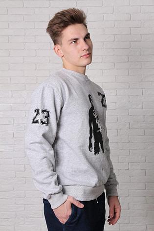 Свитшот серый - Jordan 23, фото 2