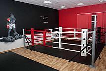 Ринг боксерский Харламов-Спорт напольный на упорах (размер в ассортименте)