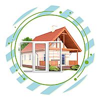 Пластиковые окна для коттеджа (загородного дома), фото 1