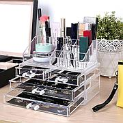 Органайзер-стойка для косметики с 4 ящичками