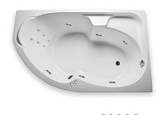 Акриловая гидромассажная ванна Диана 170х105х65 см.(Общий массаж, спина)