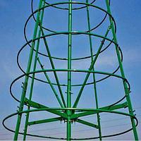 Искусственная каркасная елка Астана, хвоя-пленка 16м (диаметр 7м), фото 5