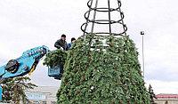 Искусственная каркасная елка Астана, хвоя-пленка 18м (диаметр 7.9м), фото 9