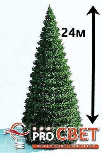 Искусственная каркасная елка Астана, хвоя-пленка 24м (диаметр 10.5м)