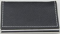 Визитница  (94x61x7mm, металлическая черная)