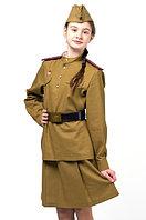 Форма офицера пехоты для Девочки (Полный Комплект) на рост 122 См