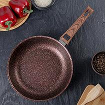 """Сковорода со съемной ручкой, линия """"Granit ultra"""" (red) АП 28 см"""