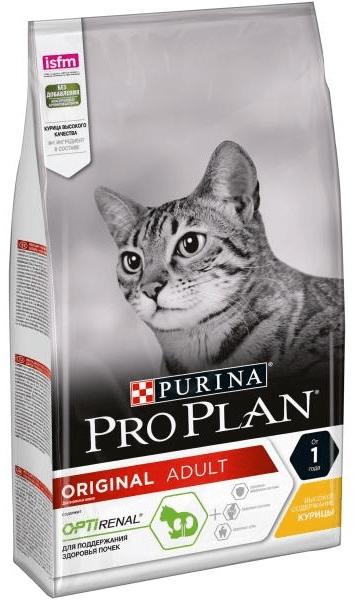 Сухой корм для взрослых кошек ПроПлан с курицей