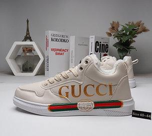 Зимние кроссовки Gucci ( мех ), фото 2