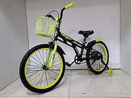 Детский велосипед Adil 20 колеса. С боковыми страховочными колесами.