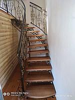 Кованная лестница с перилами, фото 1