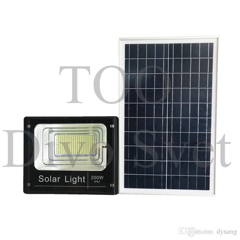 Прожектор на солнечных батареях 200W. Солнечный светодиодный светильник LED 200 Вт.