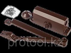 Доводчик дверной STAYER, для дверей массой до 40 кг, цвет коричневый