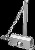 Доводчик дверной ЗУБР для дверей массой до 40 кг, цвет серебро