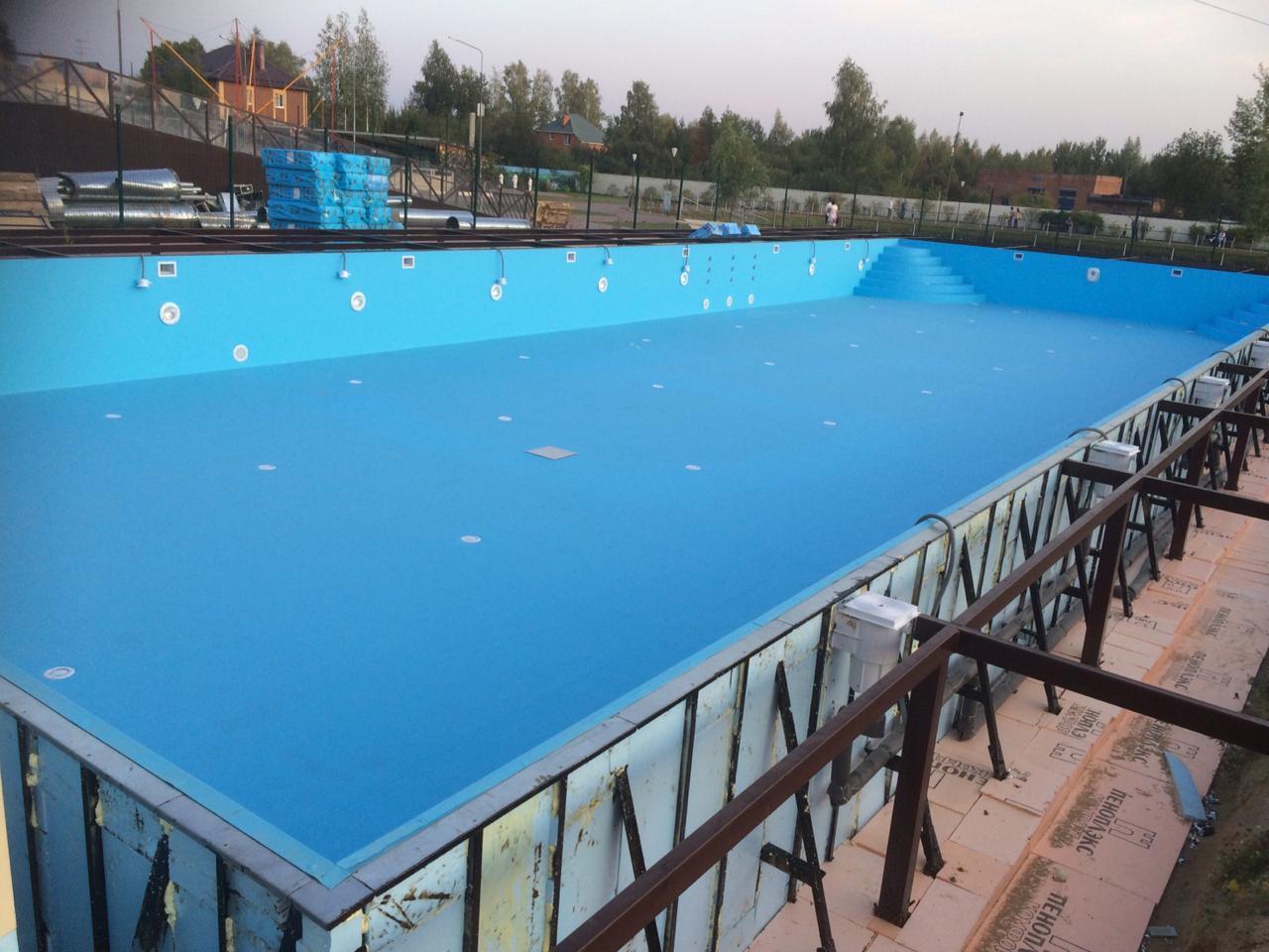 Скиммерный бассейн, 30*15*1.5м