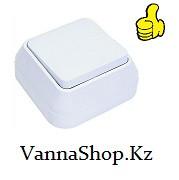Выключатель наружныйодноклавишный АБС-Пластик. белого цвета.
