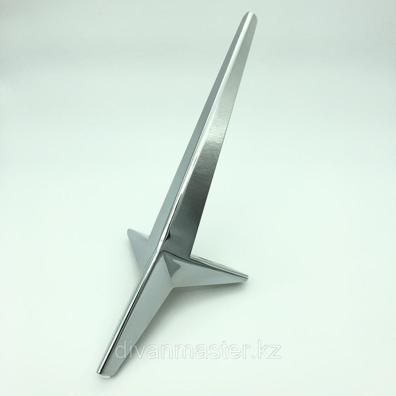 Ножка стальная угловая с наклоном, для диванов и кресел 45см, хром