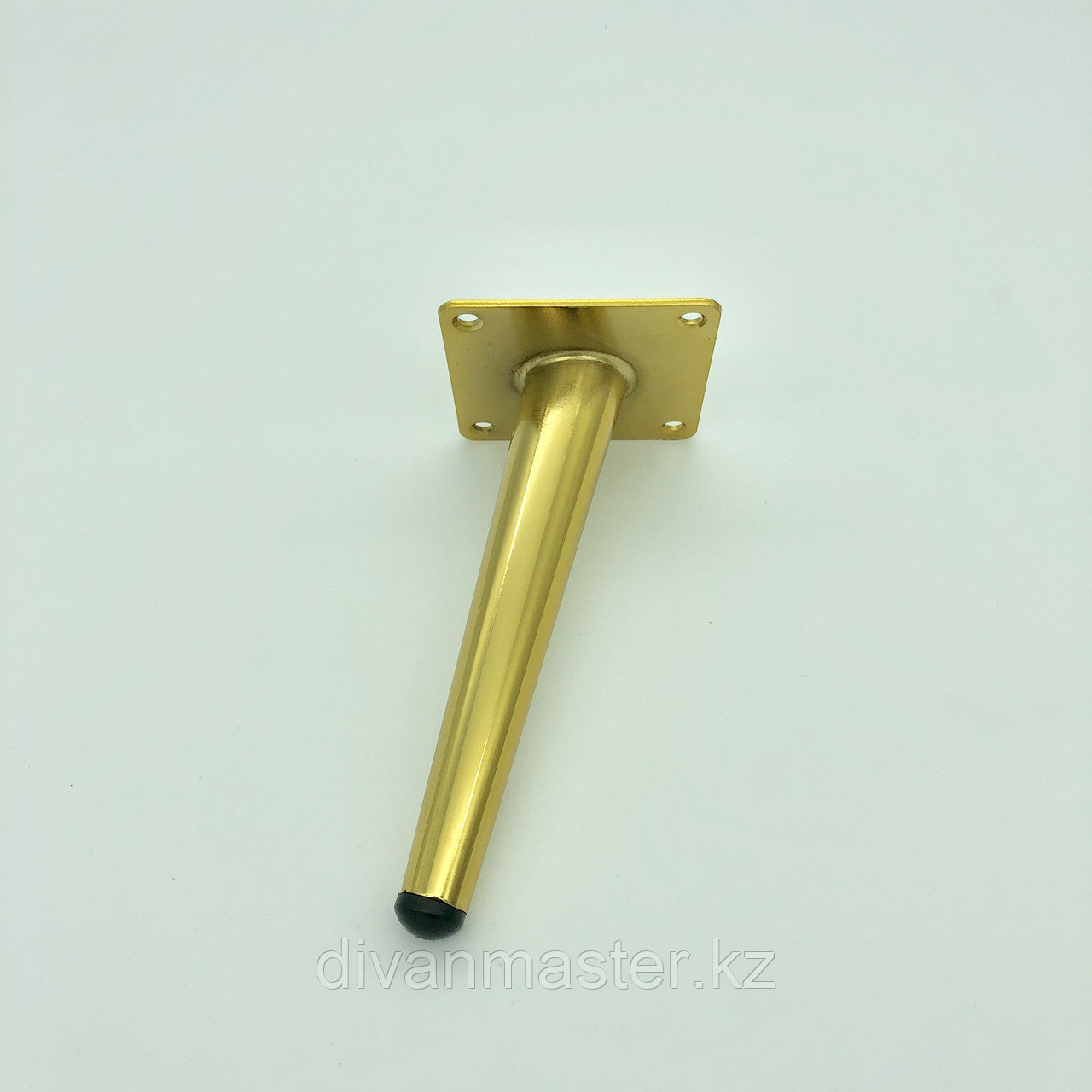 Ножка мебельная, стальная с наклоном 17 см.Золото