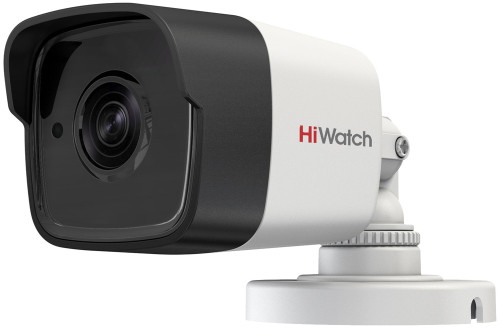 DS-T500A - 5MP HD-TVI уличная цилиндрическая камера со встроенным микрофоном, фиксированным объективом и ИК-подсветкой.