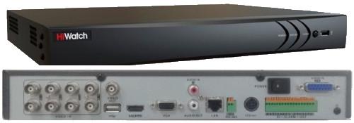 DS-H208TA - 8-ми канальный Turbo HD5.0 гибридный видеорегистратор с поддержкой 4-х камер TVI/AHD/CVI/CVBS с разрешением до 8MP на канал + 8 IP-каналов