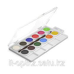 Краски акварельные, ArtBerry®, 41726, с УФ защитой яркости 12 цветов с палитрой и кистью