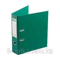"""Папка–регистратор Deluxe с арочным механизмом, Office 3-GN36 (3"""" GREEN), А4, 70 мм, зелёный"""
