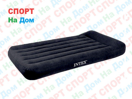 Черный надувной матрас Intex 66770 с подголовником, фото 2