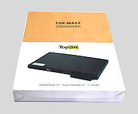 Мобильный аккумулятор TOP-MAX2 30000mAh QC3.0, Power Delivery. Type-C, MicroUSB, 3 USB-порта и кредл
