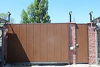 Ворота в Алматы из сэндвич-панелей, фото 1