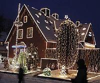 Новогоднее наряжение фасадов зданий